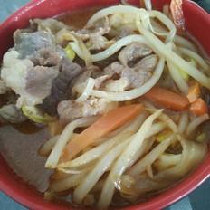 豆芽牛肉汤