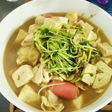 豌豆芽豆腐汤
