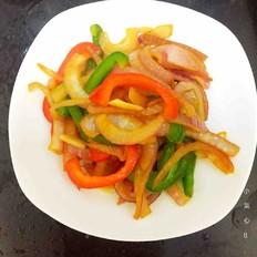 洋葱炒甜椒