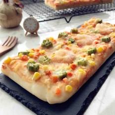 秋葵虾仁披萨