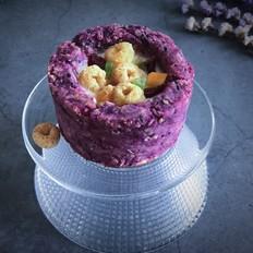 紫薯燕麦酸奶杯