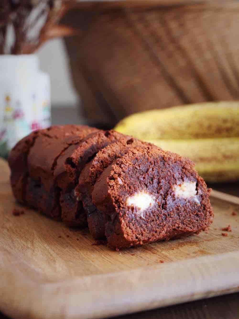 香蕉黑巧磅蛋糕