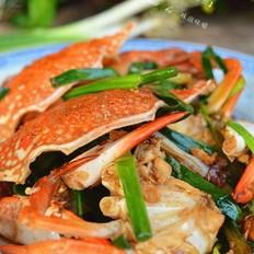 广东姜葱炒蟹