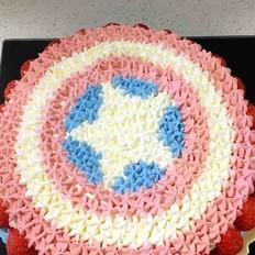 美国队长生日蛋糕