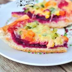 紫薯双味披萨