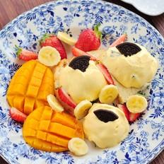 芒果软冰淇淋