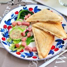 三文鱼罐头三明治