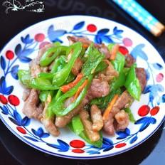 尖椒熘肉片