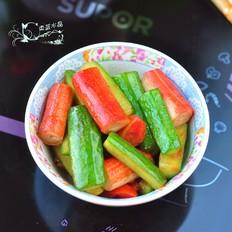 黄瓜焖蟹棒