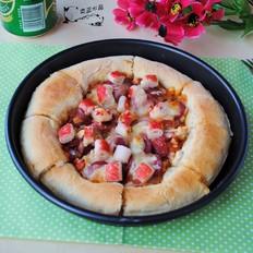 香肠蟹肉披萨