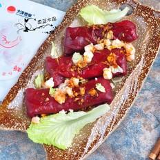 虾仁红米肠粉卷