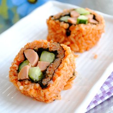 韩式香辣寿司的做法