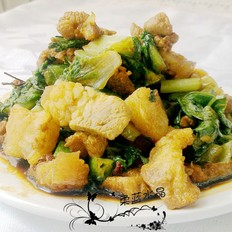 莴笋叶炒肉