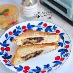 粽子蜜豆三明夹