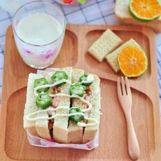 虾仁鳗鱼三明治