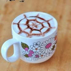 简易拉花咖啡