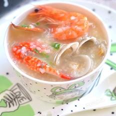 梭子蟹海鲜粥