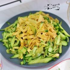 豆腐皮炒黄瓜
