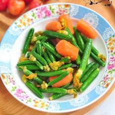 黄瓜花炒水果胡萝卜