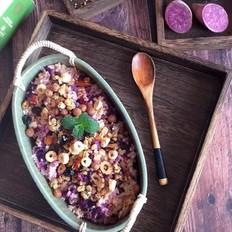 紫薯燕麦饭