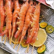 黑椒蒜蓉烤虾