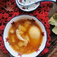 酒酿鸭蛋圆子汤