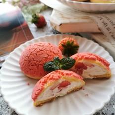 草莓酥皮泡芙