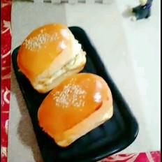 鸡肉什锦蛋汉堡