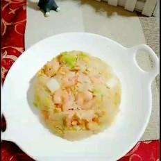 虾仁白菜炒饭
