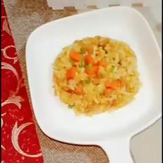 蒜苔午餐肉蛋炒饭
