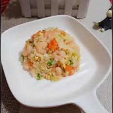 虾仁蒜苗炒饭