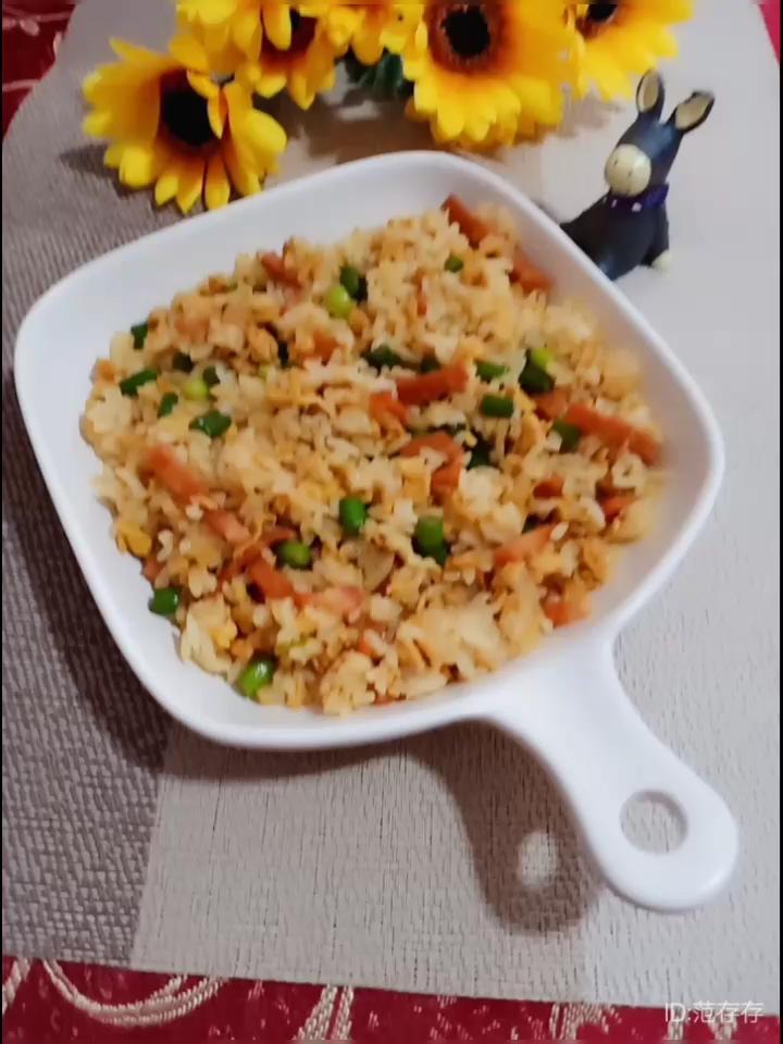 培根蒜苔蛋炒饭