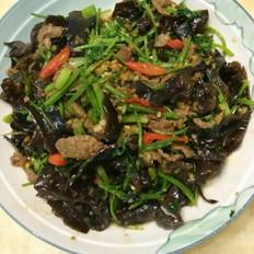 香菜木耳炒牛肉