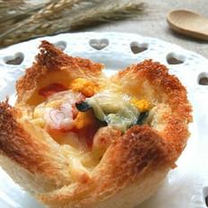 【jasmin趣味烘焙】鲜虾鱼板面吐司盏