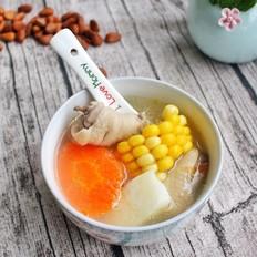 快手汤胡萝卜玉米山药鸡肉汤