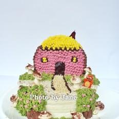 万圣节魔鬼屋蛋糕