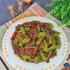 凉瓜炒牛肉的做法