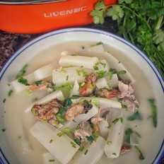 白萝卜蚝豉排骨汤