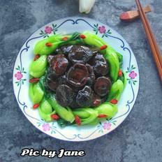 霸王菜谱之蚝油香菇爬青菜