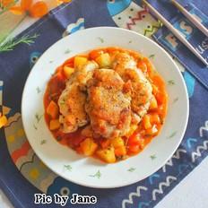茴香茄汁烩鸡扒