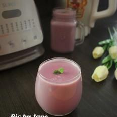 紫薯豆浆的做法
