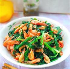 韭菜炒小河虾