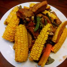 玉米豆角烧排骨