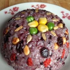 双色糯米八宝饭