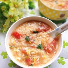 番茄蛋花疙瘩汤