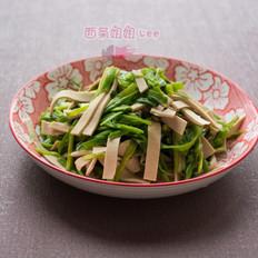 水芹菜炒厚百叶
