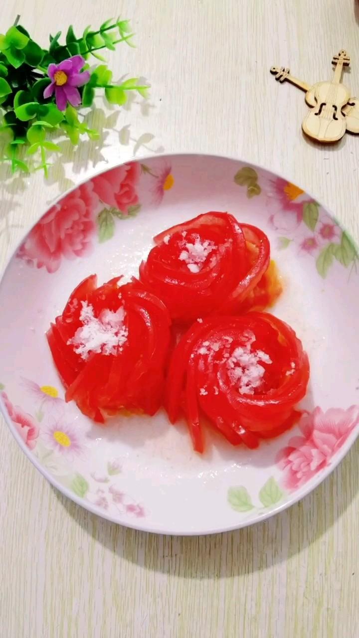 玫瑰花西红柿