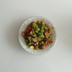 鲜兔肉炒莴笋