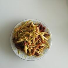 猪肉丝炒冬竹笋