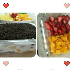奥利奥酸奶水果捞